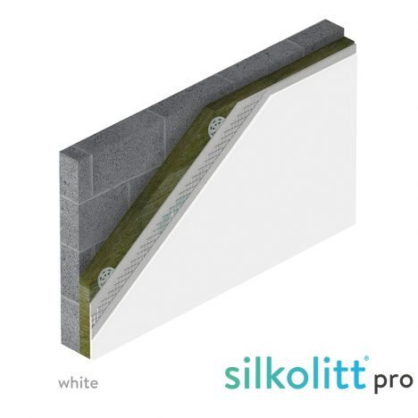 silicone render mineral wool